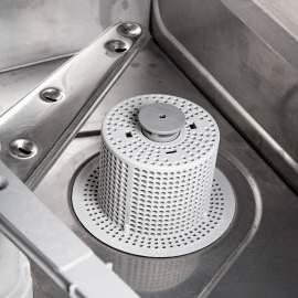 Pohár mosogatógép 40x40 cm-es kosárral, mosószer adagolóval és szivattyúval